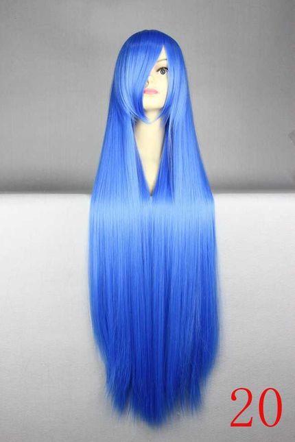 Lange glatte Cosplay Perücke 100 cm - Top Qualität - Viele Farben – Bild 12