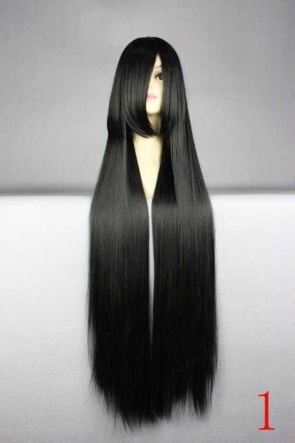 Lange glatte Cosplay Perücke 100 cm - Top Qualität - Viele Farben – Bild 1