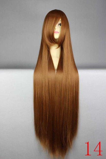Lange glatte Cosplay Perücke 100 cm - Top Qualität - Viele Farben – Bild 9
