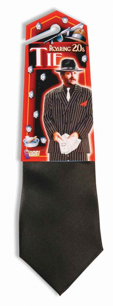 Unifarbene 20er 30er Jahre Gangster Krawatte Mafiaboss Kostüm Farbauswahl