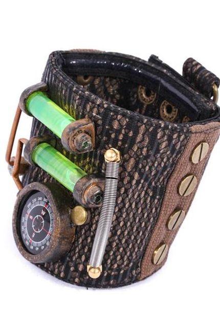 Steampunk Armband von RQ-BL mit Kompass  – Bild 2