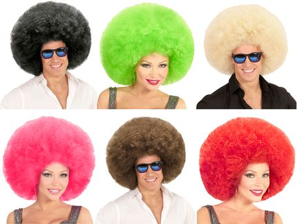 Übergroße Afro Locken Perücke für Damen oder Herren
