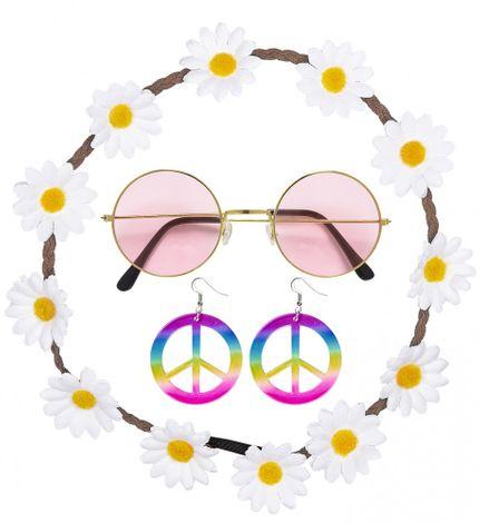70er Jahre Flower Power Hippie Set  – Bild 1