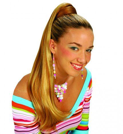 Haar-Verlängerung - Langer Zopf an Haarspange - Haarteil Pferdeschwanz