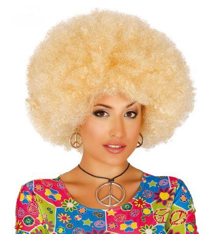 Große Afro-Perücke für Damen und Herren Locken Hippie Clown  – Bild 2