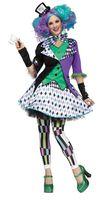 Mad Hatter Deluxe Kostüm für Damen und Teenager  001