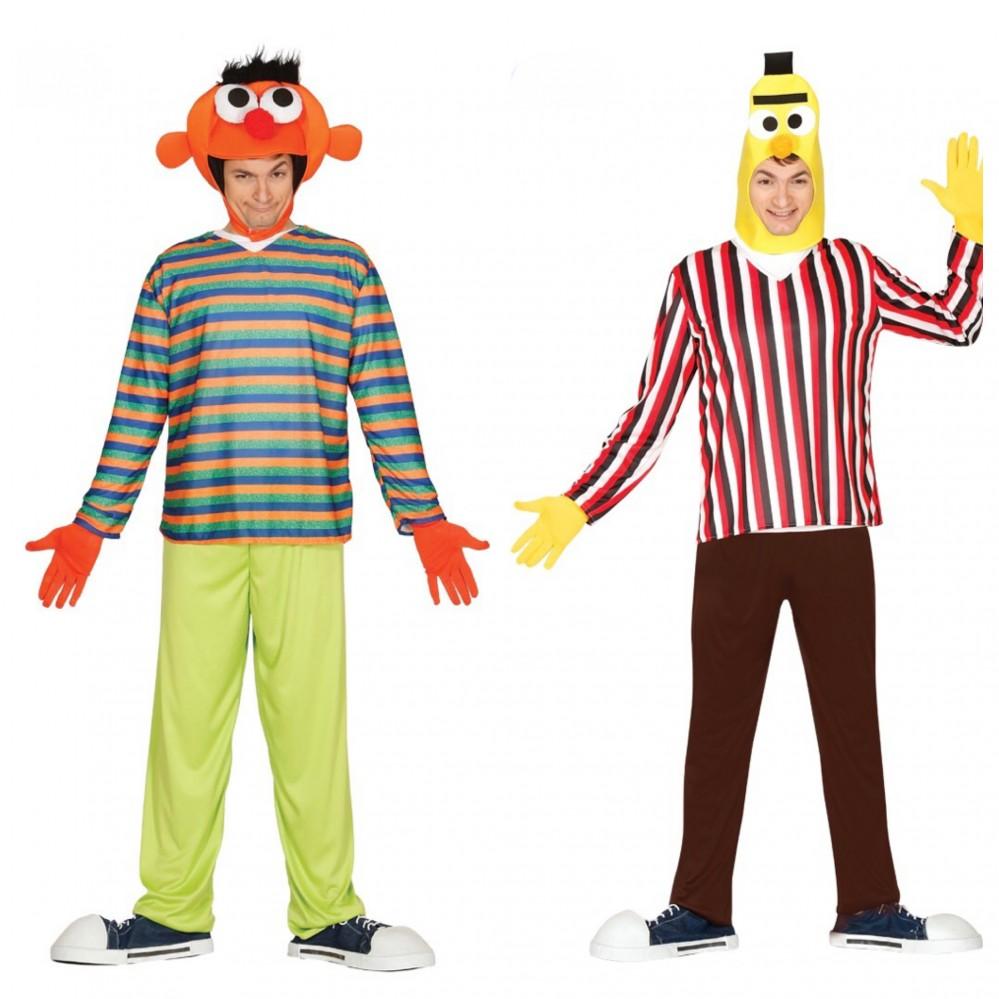 Ernie Bert Herren Kostüm Gr Ml Kostüme Accessoires