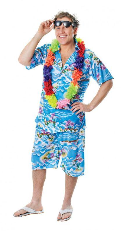 Hawaii-Hemd mit und ohne Hose