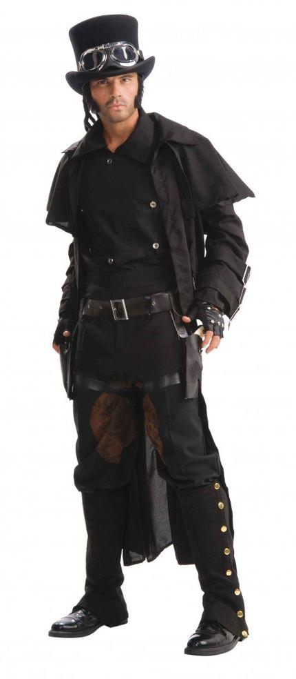 Langer Steampunk Herrenmantel Duster Coat Gr. M/L – Bild 1