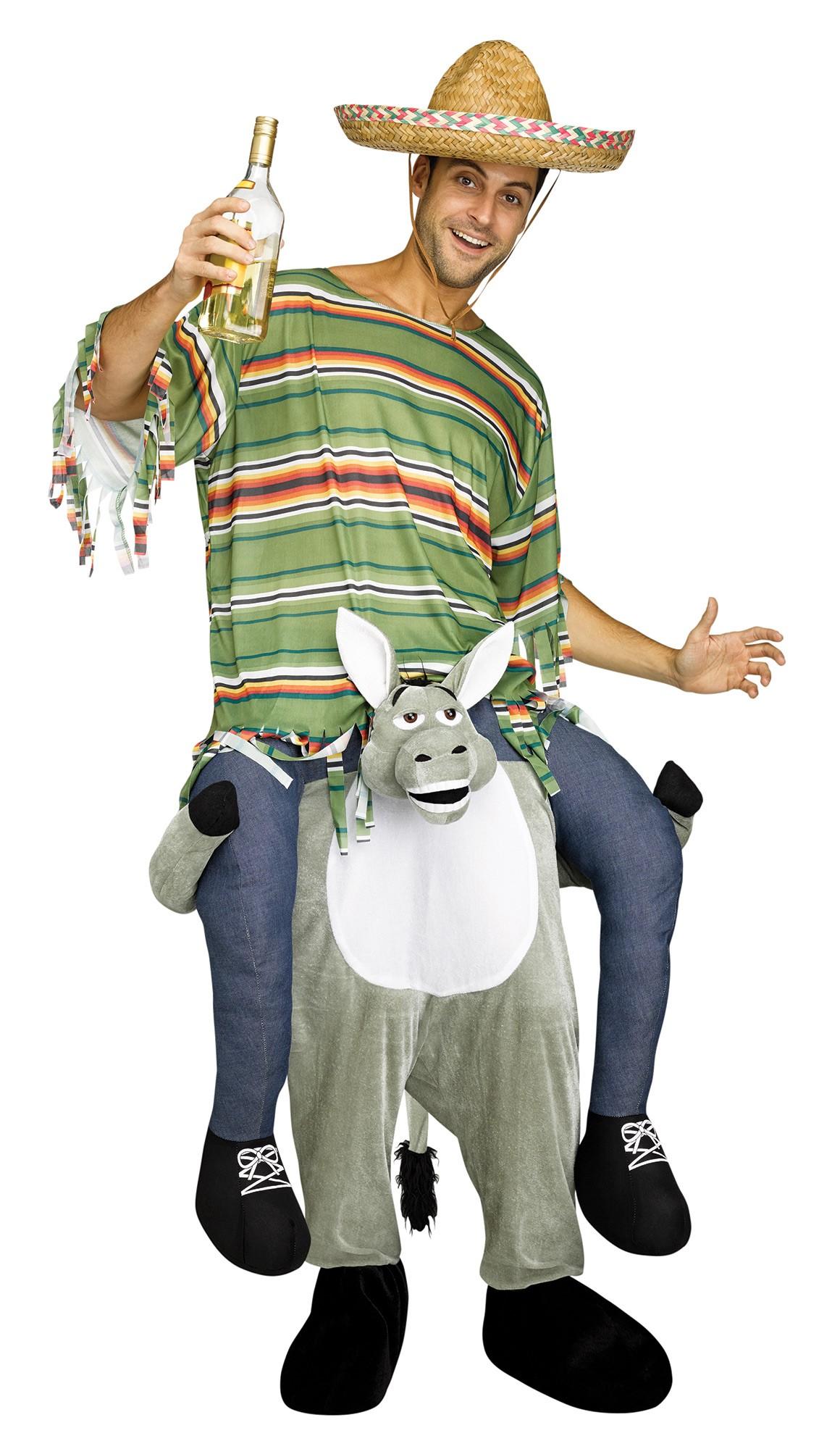 lustiges step  huckepack kostuem piggy  aufsitz