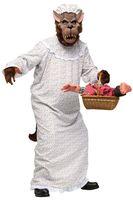 Lustiges Herren-Kostüm - Großer Böser Wolf Großmutter - Gr. M/L 001