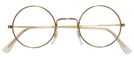 Brille mit goldenem Rand für Weihnachtsmann, Oma oder Zwerg – Bild 6