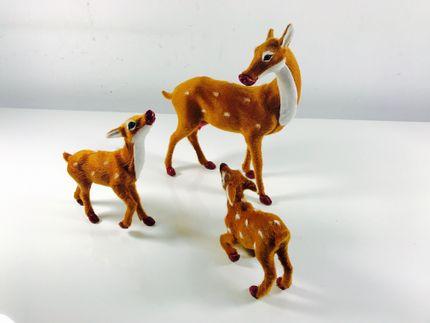 Hirsch-Familie Muttertier und 2 Kitze für Weihnachtsdekoration #12