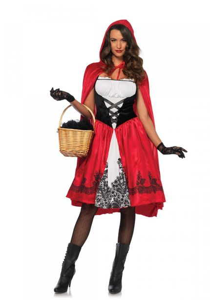 CLASSIC Red Riding Hood Damen Kostüm mit Cape von Leg Avenue