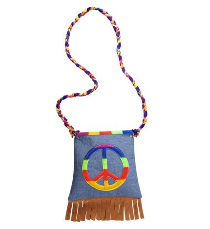 Hippie-Tasche mit Peace-Zeichen – Bild 1