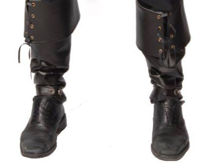 Herren Stiefelstulpen in Leder-Optik GUI – Bild 1