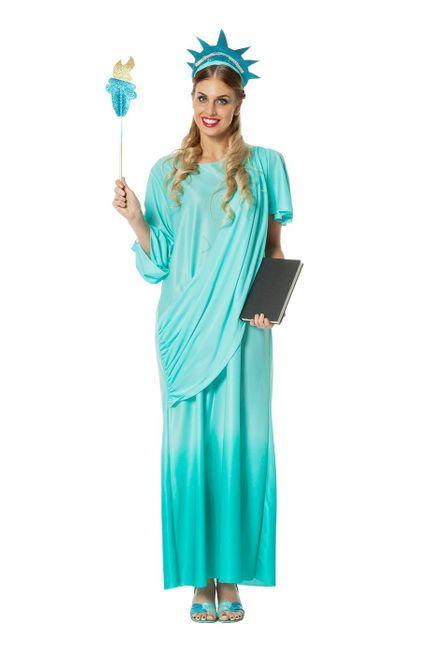 Deluxe Damen Kostüm Freiheitsstatue – Bild 1
