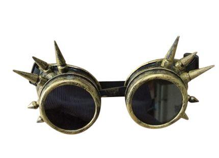 Steampunk Goggles mit Spikes Bronze – Bild 2