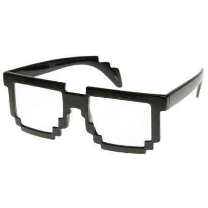 8-bit Old School Pixel Brille – Bild 2