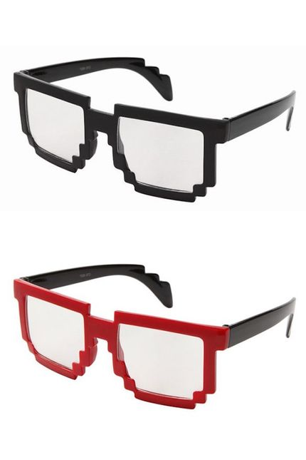 8-bit Old School Pixel Brille – Bild 1