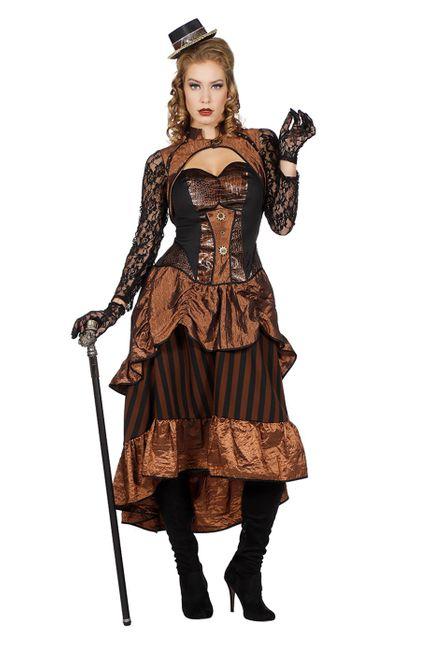 Steampunk Victoria Damen Kostüm