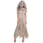 Untote Zombie Braut Damen Kostüm