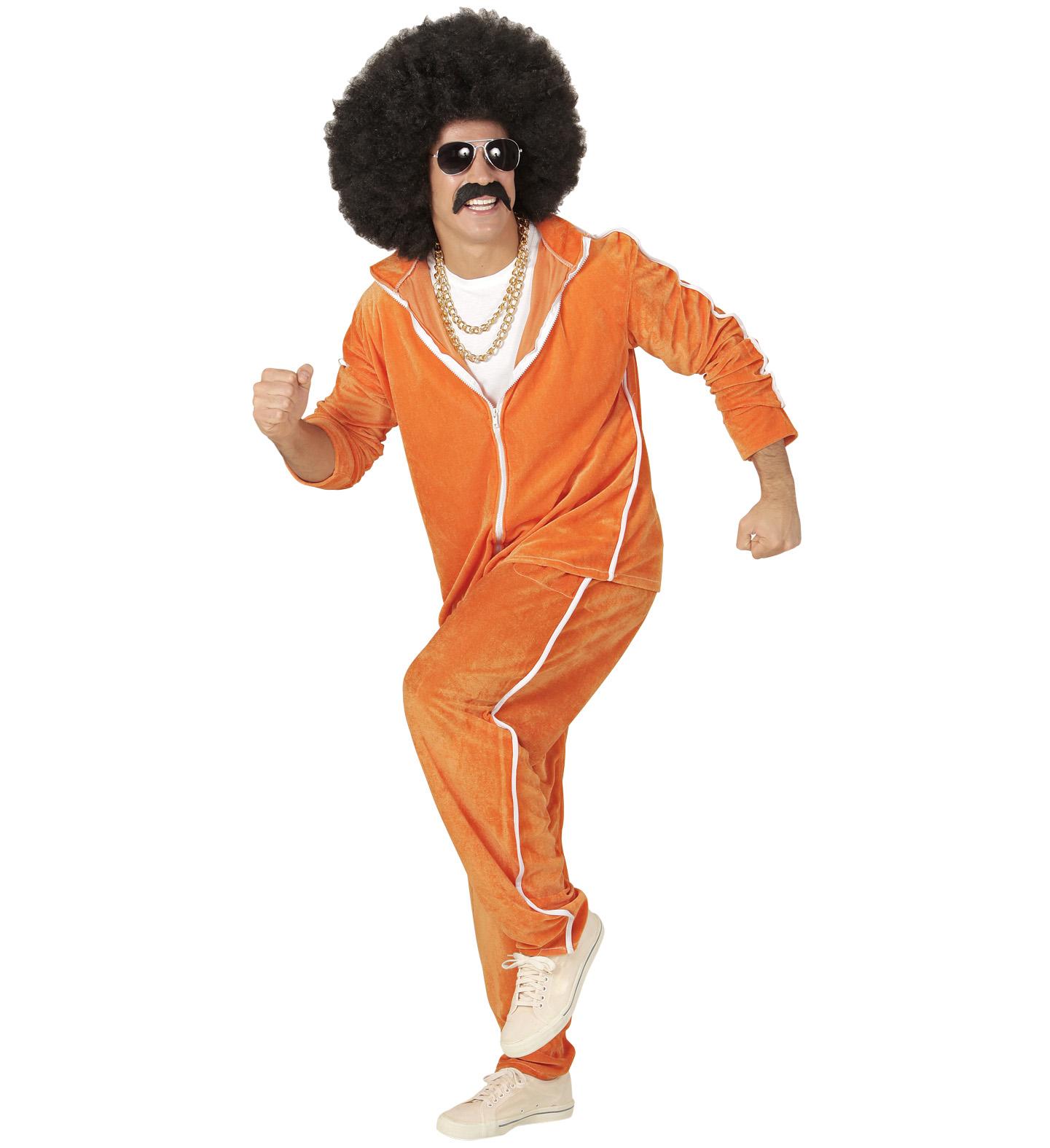 neuesten Stil Kauf echt speziell für Schuh 80er Jahre Herren Trainingsanzug in Frottee-Optik Orange