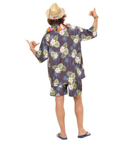 Hawaii Herren Kostüm Hemd Shorts Kette – Bild 2