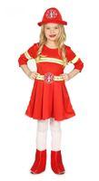 Kinderkostüm Feuerwehrfrau für Mädchen