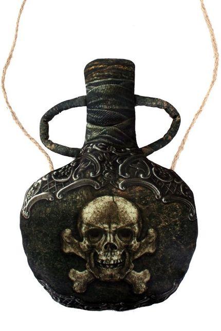 Kleine Umhängetasche Flasche für Pirat oder Piratin
