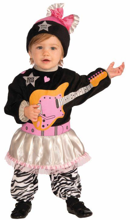 Li'l Rock Star 80er Jahre Mädchen Kostüm für Kleinkinder