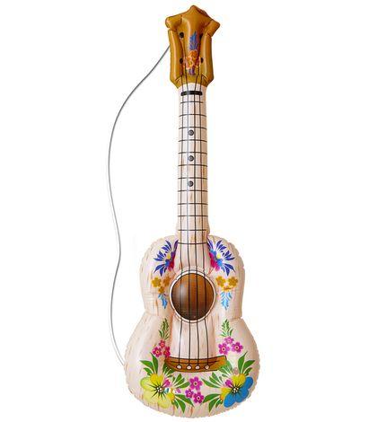 Aufblasbare Hawaii Gitarre mit Blumen – Bild 1