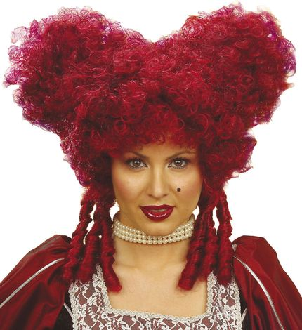 Barock Damen Perücke Rot