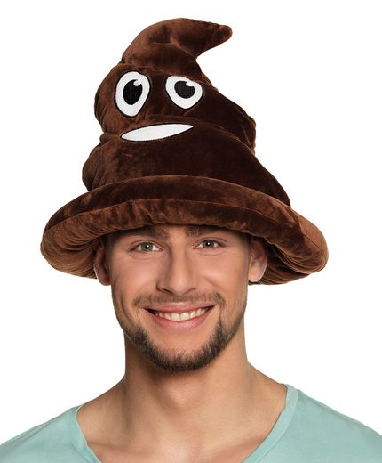 Lustiger Emoji Emoticon Scheisshaufen Hut – Bild 1