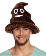 Lustiger Emoji Emoticon Scheisshaufen Hut
