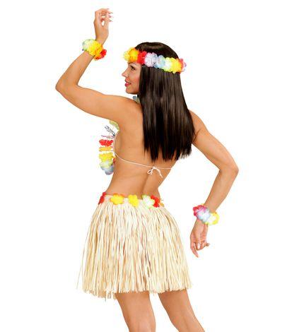 Hawaii Set Damen Kostüm Bastrock und Schmuck – Bild 3