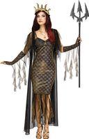 Königin der Meere Poseidon Damen-Kostüm