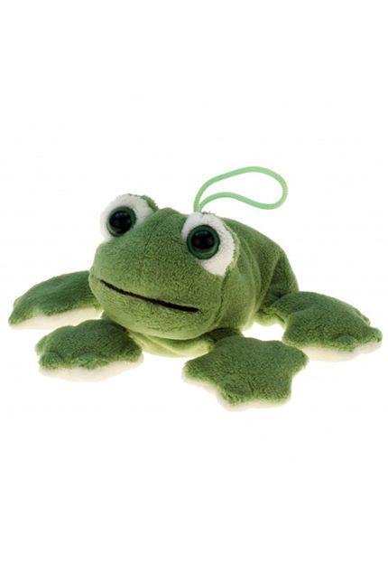 Weicher Plüsch Frosch 13 cm grün
