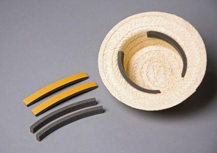 3 selbstklebende Schaumstoff Huteinlagen Polster zur Passoptimierung