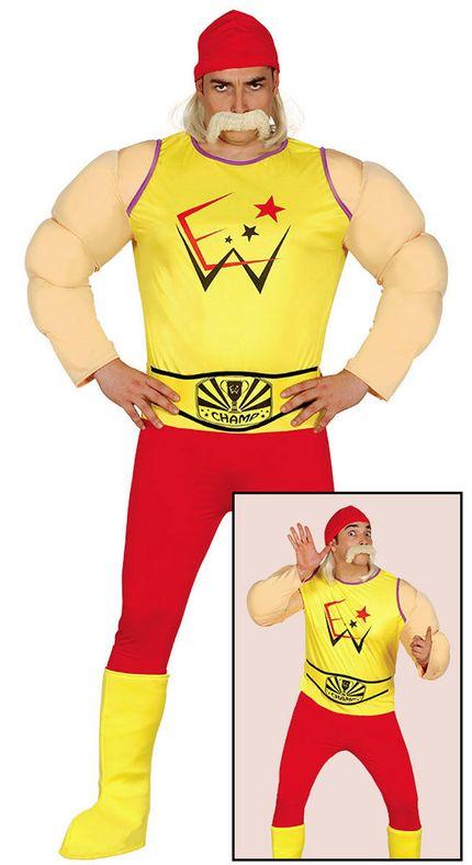 Hulk Hogan Wrestler Herren Kostüm – Bild 3