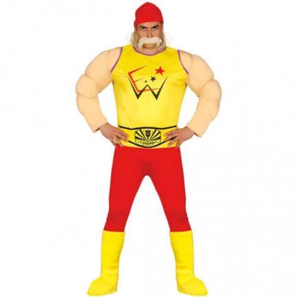 Hulk Hogan Wrestler Herren Kostüm – Bild 1