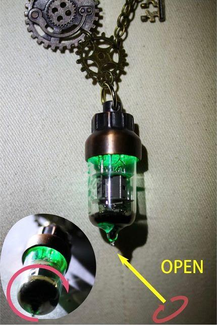 RQ-BL Steampunk Kette lang mit Beleuchtung SP177 – Bild 5