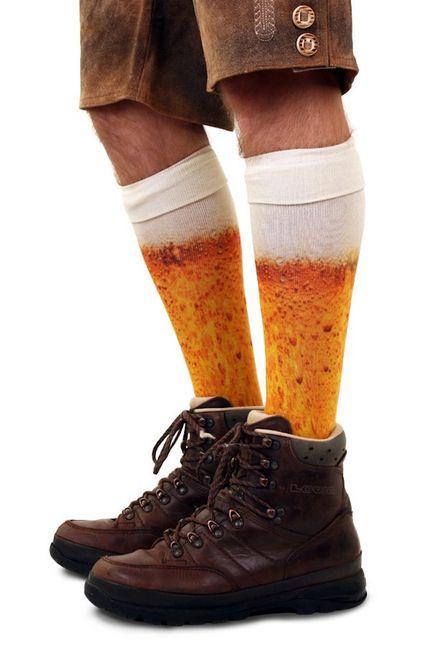 Kniestrümpfe mit Bier Druck