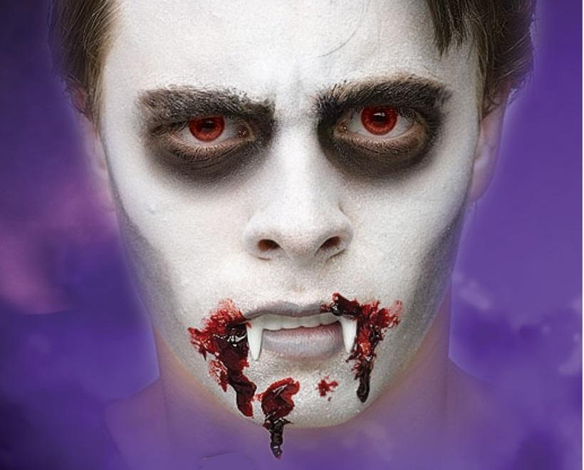 Kompaktpuder Schminke Make Up Halloween Karneval Fasching Vampir