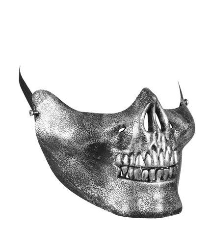 Totenkopf Halbmaske Silber Skull Geist Halloween – Bild 1