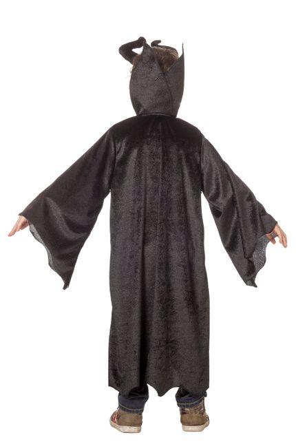 Kinder Kostüm Dark King Robe mit diabolischen Hörnern – Bild 3