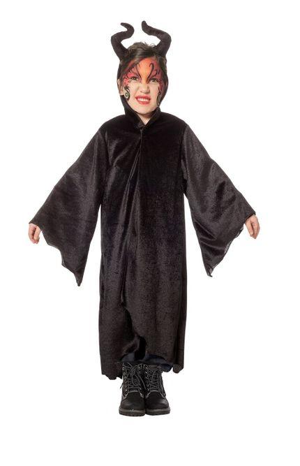 Kinder Kostüm Dark King Robe mit diabolischen Hörnern – Bild 5