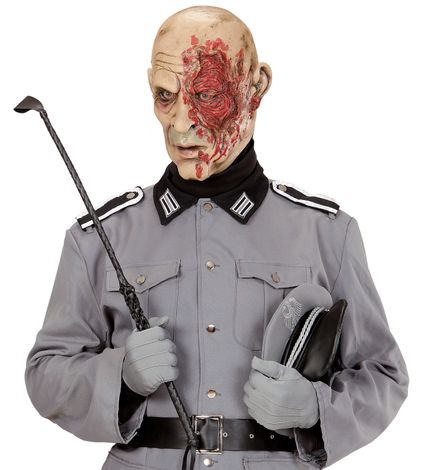 Latex Maske World War Zombie General – Bild 2
