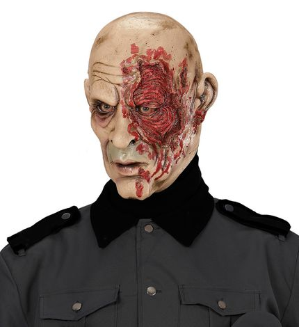 Latex Maske World War Zombie General – Bild 3