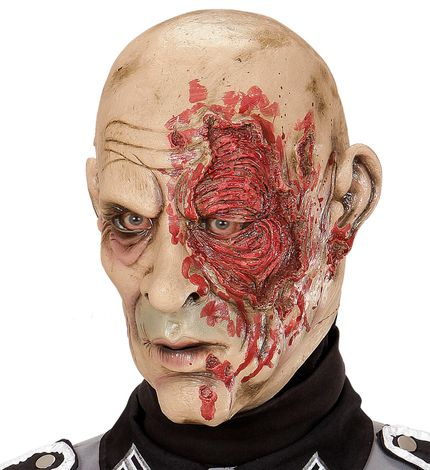 Latex Maske World War Zombie General – Bild 1